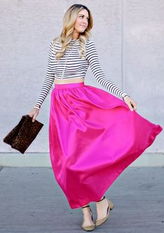 Pink Maxi Skirt by A Little Dash Of Darling