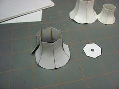 Dollhouse Miniature Furniture - Tutorials | 1 inch minis: How to make a miniature lamp shade