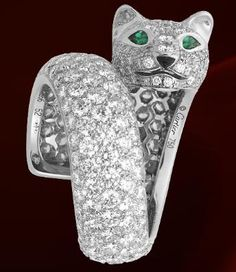 CARTIER PANTHER PANTHER RING DIAMONDS **LIMITED EDITION** NEW w/ PAPERS & BOX