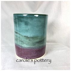 carole's pottery. Do bottom first. Smokey Merlot 3x under Top Tourmaline 3x. Little Loafers. ^6.