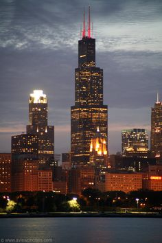Sears Tower at night.  Now called Willis Tower but will always be Sears Tower to many.