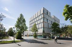 Gewand aus Sonnensegeln - Neubau für SOS-Kinderdorf Berlin von Ludloff Ludloff