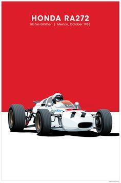 1983 European Grand Prix Brands Hatch Motor Racing Poster A3//A4 Print