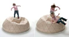 designer mathieu lehanneur transforms the geodesic domes of buckminster fuller into reconfigurable leather ottomans Leather Pouf, Leather Ottoman, Mathieu Lehanneur, Buckminster Fuller, Smart Materials, Sacs Design, Best Flats, Geodesic Dome, Bucky