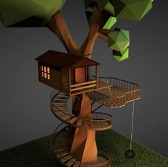 How To Model A Low-Poly Treehouse In Cinema 4D - Motion And Design
