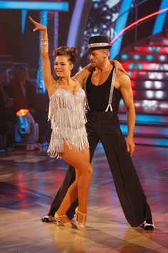 Kara and Artem, dancing the Jive for Strictly Come Dancing; absolutely love her dress!