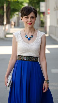 cobalt blue wedding attire