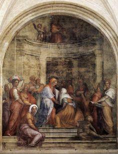 Visitation. Pontormo.  1514-1516. Fresco.  392 x 337 cm. Santissima Annunziata. Florence.