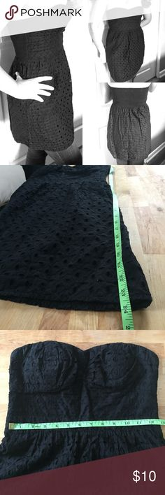 AE outfitter sun dress American Eagle outfitters black sun dress. 100% Eyelet Lace fabric.  Bundle to save👍🏼Also,  I accept reasonable offers 😉 American Eagle Outfitters Dresses Strapless