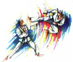 Taekwondo painting