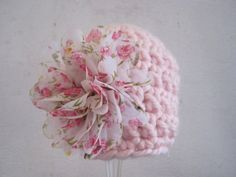 Crochet Baby Girl Hat Crochet Baby Hat Newborn by Monarchdancer, $25.00