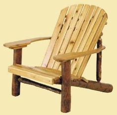 Old Hickory Adirondack Chair with Paddle Arms. This is a timeless classic! Rustic Outdoor Furniture, Log Furniture, Outdoor Chairs, Industrial Furniture, Eames Chairs, Arm Chairs, Pink Chairs, Lounge Chairs, Tommy Bahama Beach Chair
