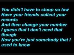 Gotye - Loving this band!!! Somebody That I Used To Know  - (Lyrics) - Fresh, new, original....need more of this