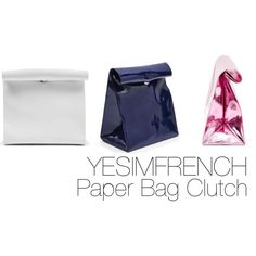 """""""YESIMFRENCH Paper Bag Clutch"""" by wllwproject on Polyvore"""