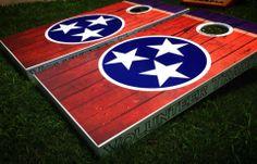 My custom corn hole boards..Volunteer Traditions.