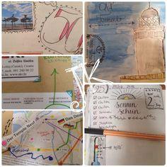 Seit ich verreise gehört das Reisetagebuch und ein Fotoapparat zwingend mit ins Reisegepäck. Hier ein paar Bilder von meinen letzten Reisen.