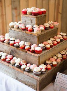 Cupcake, présentoir en bois
