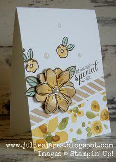 Julie Kettlewell - Stampin Up UK Independent Demonstrator - Order products 24/7: Garden in Bloom Diagonal Card