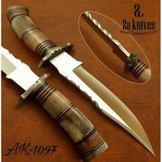Custom Handmade D2 Steel Hunting Knife