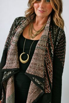 Blu Pepper, Fall Knit Open Cardigan. Love everything about this!