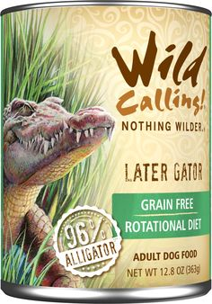 Wild Calling Later Gator Alligator Adult Canned Dog Food