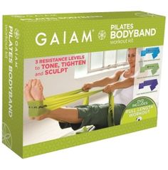Gaiam Pilates BodyBand Workout Kit, another new toy