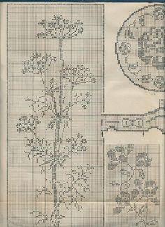 Filet Crochet Charts, Cross Stitch Charts, Crochet Stitches, Cross Stitch Patterns, Crochet Curtains, Crochet Doilies, Crochet Lace, Knitting Paterns, Knitting Charts