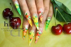 Summer Feeling, Artificial Nails, Uv Gel, High Gloss, Vw, Nail Designs, Sparkle, Neon, Color