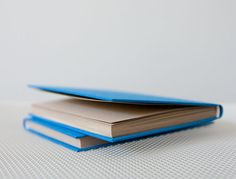 Small Vivid Blue Bookcloth Hardcover Notebook  by knotbooks