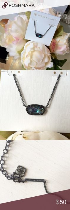 🆕 Kendra Scott Elisa necklace Brand new beautiful Kendra Scott necklace is a gunmetal chain with colored mirror glass. Gorgeous worn alone or with other necklaces! Kendra Scott Jewelry Necklaces