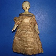 """Early 4 1/4"""" Peg Wooden Penny Doll Grodner Tal Germany 1820's-on from romancingthedoll on Ruby Lane"""
