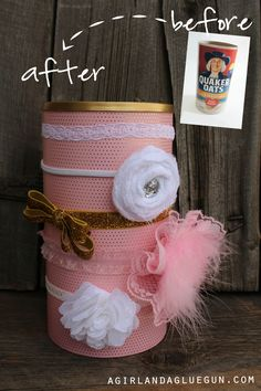 before and after of a kids hair bow holder