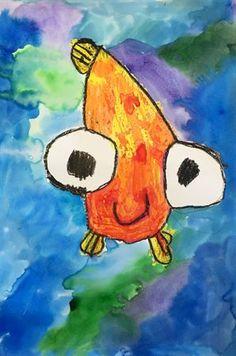 Best Art Projects For Elementary Students Kindergartens Lesson Plans 65 Ideas<br> Kindergarten Art Lessons, Art Lessons Elementary, Pop Art, Grade 1 Art, Ocean Art, Fish Art, Teaching Art, Teaching Colors, Art Classroom
