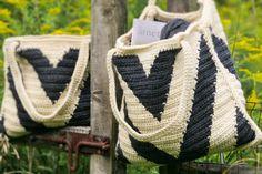 Crochet Pattern Cool Weather Chevron Bag Pattern by rubywebbs