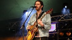 Hozier perform on the BBC Introducing stage at Glastonbury Festival 2014