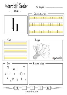 Alphabet Worksheets, Kindergarten Worksheets, Classroom Activities, Alphabet For Kids, Primary School, Periodic Table, Reading, Studying, Periodic Table Chart
