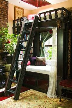 reading nook + lofted bed