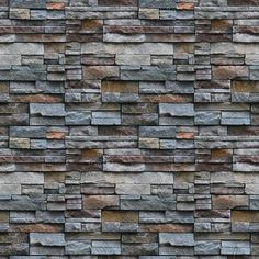 Cut Stone Wall Printed Sheet for 1:12 Scale Dollhouse