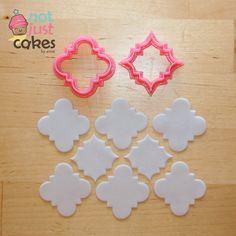 """Quatrefoil Pattern Cutter Set (2pc)  1st cutter cuts 1.5"""" pattern  2nd cutter 1.25"""" pattern"""