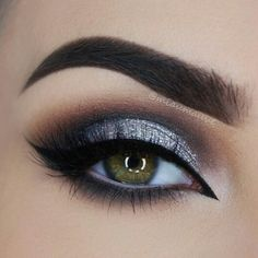 eye makeup. sliver