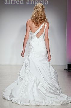One shoulder wedding dress fromAlfred Angelo, Spring 2013.