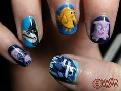 Finding Nemo nails on the other hand!
