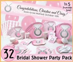 With this wedding ring, bridal shower themed party supplies.