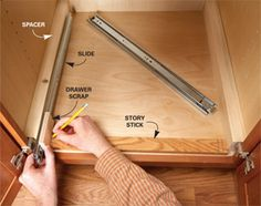 Great tutorial to add slide-outs to the kitchen cabinets you already have- this one is on the project list for 2013