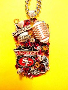 San Francisco 49ers Dog Tag Pendant Number 1242 by BradosBling, $39.99