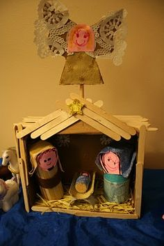 Pink and Green Mama: Homemade Christmas: Homemade Nativity