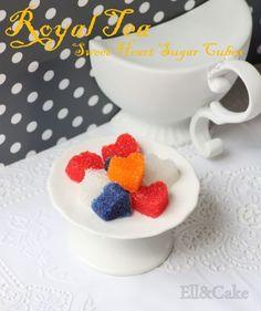Hartjes suiker zelf maken met vormpje en voedselkleurstof