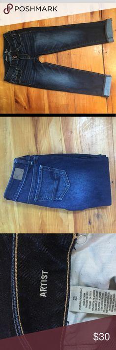 American Eagle Artist Crop Jeans Size 2 like new American Eagle Outfitters Jeans Ankle & Cropped