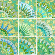 9 New York Beauty quilt blocks