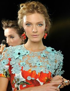 Dolce and Gabbana floral embroidery